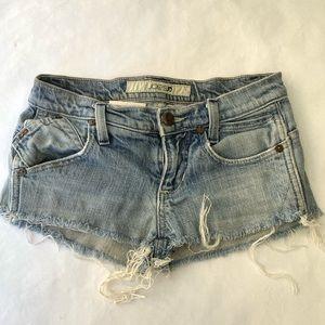 Joe's Jeans distressed jean shorts - size 24